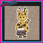 CUTE GIRAFFE DESIGN JUTE  SHOPPING LADIES GIFT BAG 001